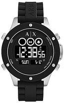 Armani Exchange Wellworn Digital Silicone-Strap Watch