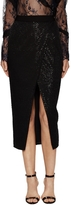 Self-Portrait Women's Sequin Wrap Front Midi Skirt