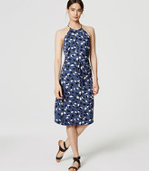 LOFT Petite Vine Halter Midi Dress