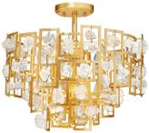 Eurofase Elrose Collection 6-Light Gold Semi Flush Mount