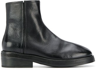 Marsèll Textured Side Zip Boots