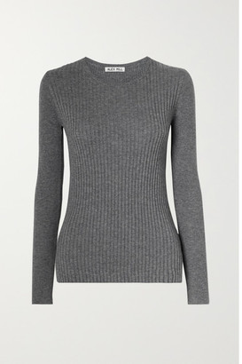 Alex Mill Ribbed Wool And Cotton-blend Sweater - Anthracite