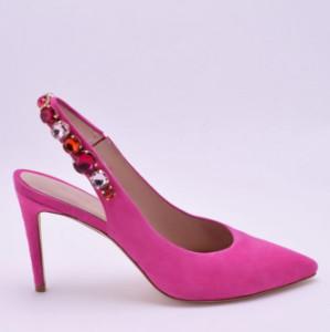 Kennel + Schmenger Kennel & Schmenger - Miley Fuchsia Jewelled Slingback Pumps - 5 - Pink