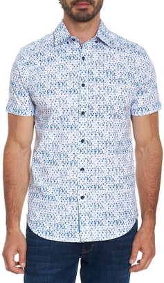 Robert Graham Delmon Tailored Fit Printed Woven Shirt