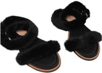 Valentino Black Mink Sandals