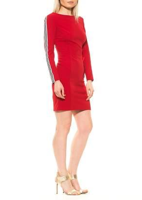 Alexia Admor Gemma Striped Long Sleeve Scuba Sheath Dress