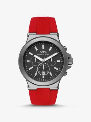 Michael Kors Oversized Dylan Gunmetal-Tone and Silicone Watch