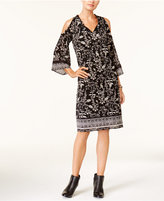 Style&Co. Style & Co Cold-Shoulder Peasant Dress, Created for Macy's