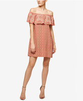Sanctuary Misha Off-The-Shoulder Printed Flounce Dress