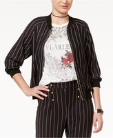 Disney Beauty and the Beast Juniors' Striped Bomber Jacket