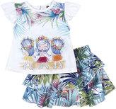 Petit Lem Tahiti Top & Skirt Set, White, Size 12-24M