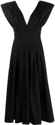 Philosophy di Lorenzo Serafini V-neck sleeveless midi dress