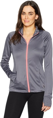 Soffe Women's Juniors Nu Wave Mock Jacket