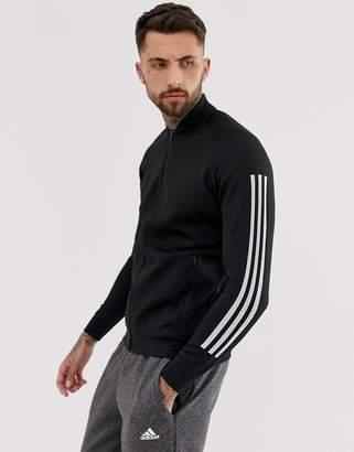 adidas ID knit bomber jacket-Black