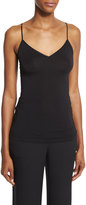 Diane von Furstenberg Demi V-Neck Fitted Tank, Black