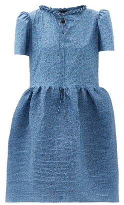 Horror Vacui Valerie Pintucked Cotton Dress - Blue