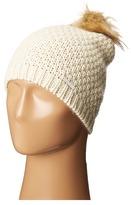 Lauren Ralph Lauren Moss Stitch Slouchy Hat w/ Pom