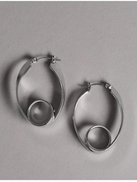 Autograph Modern Swirl Hoop Earrings