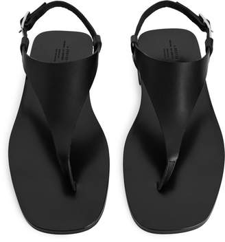 Arket Leather Thong Sandals