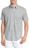 James Campbell Men's Floral Print Sport Shirt