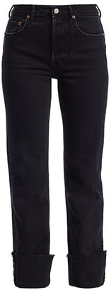 TRAVE Berit High-Rise Ankle Cuff Jeans