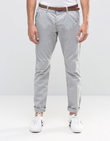 Esprit Garment Dye Chinos Trousers In Slim Fit