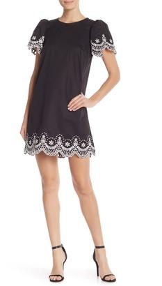 Kate Spade Embroidered Flutter Sleeve Shift Dress
