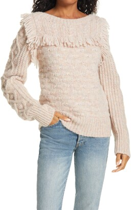 LoveShackFancy Kingston Fringe Sweater