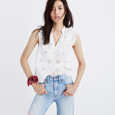 Madewell Eyelet Garden Sleeveless Top