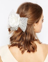 Asos WEDDING Rose Mesh Hair Clip