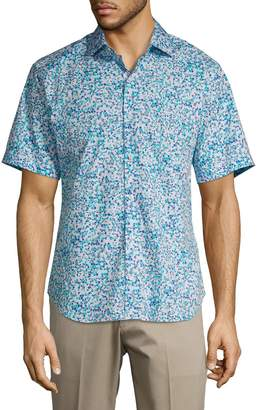 Tailorbyrd Printed Button-Down Shirt