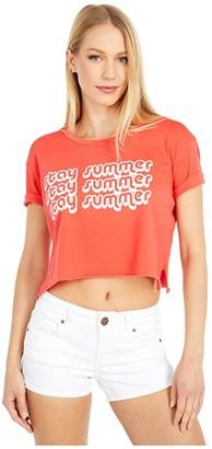 Billabong Hot Summer Tee (Rad Red) Women's Clothing