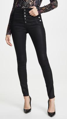 J Brand Natasha Sky High Coated Skinny Jeans