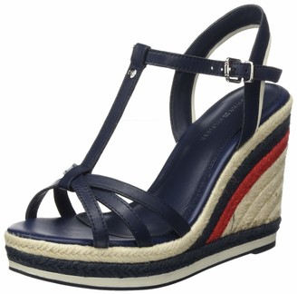 Tommy Hilfiger Women's Tommy Stripy High Wedge Open Toe Sandals