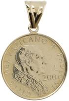 Italian Gold 200 Lire Vatican Coin Pendant, 14KGold