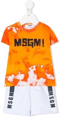 Msgm Kids Logo Print Two Piece Set
