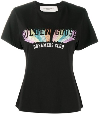 Golden Goose glitter logo print T-shirt
