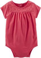 Osh Kosh Oshkosh Short-Sleeve Lace Bodysuit - Baby Girls 3m-24m