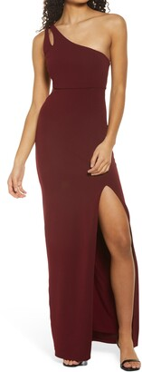 Lulus Simply Beautiful One Shoulder Column Gown