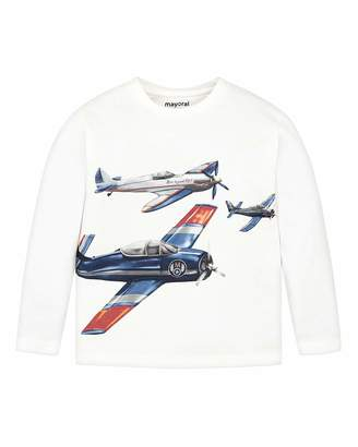 Mayoral Boy's Airplanes Graphic Tee, Size 4-8