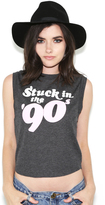 Wildfox Couture 90's Funk Keaton Tank in Clean Black