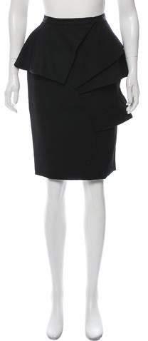 Asymmetrical Tiered Knee-Length Skirt w- Tags