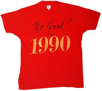 Moschino Red Cotton Top for Women Vintage