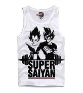 E1syndicate Tank Top Shirt Super Saiyan Dragonball Gym Fitness Bodybuilding S/M/L/Xl