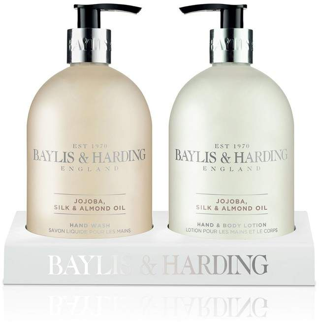 Baylis & Harding Jojoba, Silk And Almond Oil Hand Wash And Lotion In An Acrylic Rack - Nude