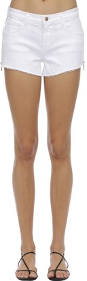 L'Agence Audrey Zipped Denim Shorts