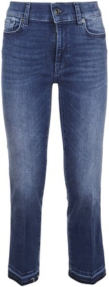 7 For All Mankind Cropped Boot Unrolled Slim Illusion Integrity