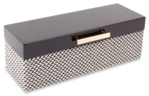 8 Oak Lane Black Lacquer Jewelry Box