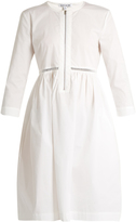 Elizabeth and James Celeste jour-èchelle cotton-blend poplin dress