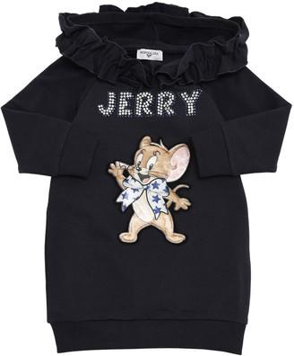 MonnaLisa Cotton Sweatshirt Dress W/ Jerry Patch